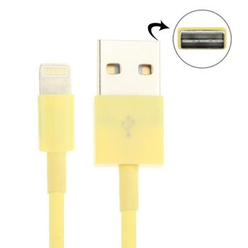 Cable USB ligthling de doble cara para iPhone5 / iPhone5C / 5S / iPad-mini  / iPad4  / iPod touch 5 / iPad-Air / iPhone-6