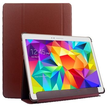 Funda de Piel Super Fina Textura Lattice con Soporte para Galaxy Tab S 10.5 / T800