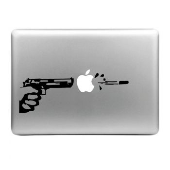 Etiqueta decorativa desprendible de goma pistola para MacBook Air / Pro / Pro