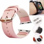 Funda Kakapi Subtle de piel con conector para Apple Watch 42mm