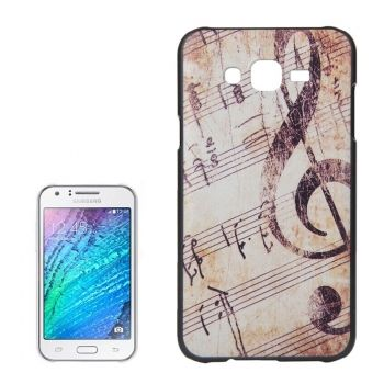 Retro Musical Note Pattern PC Protective Case para Galaxy-J7