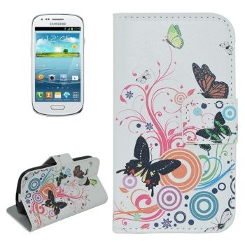 Funda de Piel Colors y Animals Crazy Stuff para Samsung Galaxy S3 mini