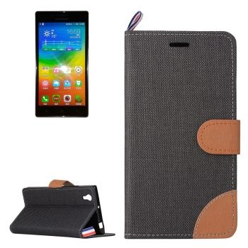 Denim Texture Horizontal Flip Leather Case with ranuras para tarjetas & soporte para Lenovo P70