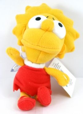 Peluche de Lisa Simpsons cabez�n 19 cm Los Simpsons
