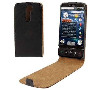 Funda de piel flip vertical LG Optimus G2