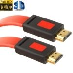 Cable plano HDMI a HDMI para 3D / HD TV / XBOX 360 / PS3 / Projector / DVD Player 1M