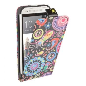 Funda de piel flip vertical estilo floral HTC-One-mini / M4
