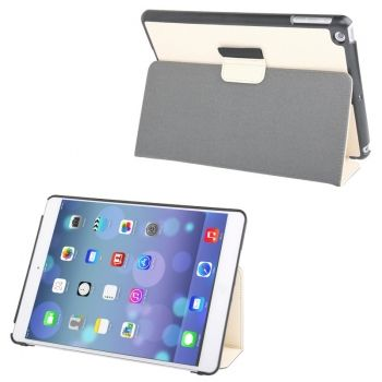 Funda de piel Textura Denim con soporte iPad-Air