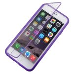 Funda TPU Satinada con Tapa Transparente para iPhone-6