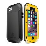 LOVE MEI Funda Ultra fina Waterproof de Metal Anti Golpes para iPhone-6
