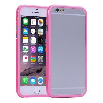 Bumper de TPU + Plástico de Colores Puros para iPhone-6-Plus