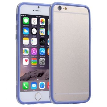 Bumper de Plástico transparente + TPU para iPhone-6-Plus