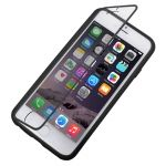 Funda TPU satinada con tapa transparente para iPhone-6-Plus