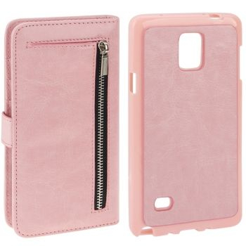 2 en 1 Funda de piel con billetero separable para Galaxy Note-4