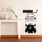 Sticker decorativo reutilizable MINIONS tamaño 60cm x 44cm