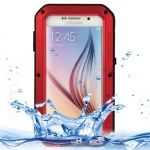 Funda LOVE MEI de metal waterproof antigolpes para Galaxy-S6