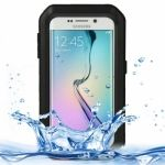 Funda LOVE MEI de metal resistente a golpes y waterproof para Galaxy S6-Edge