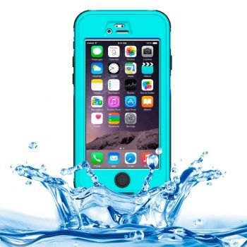Funda waterproof ABS con boton y pantalla táctil para iPhone-6-Plus