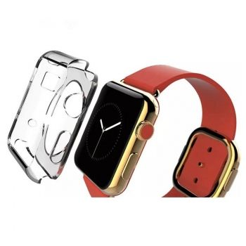 Carcasa TPU transparente para Apple Watch de 38mm
