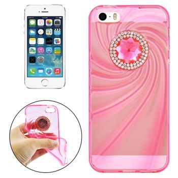 Funda TPU Ultrafina Moderna con Diamantes para iPhone5 y 5S