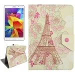 Universal 7 Inches Tower and Modern Girl Pattern Horizontal Flip Leather Case con asa para Samsung Galaxy Tab 4 / T231 & Galaxy Tab 3 Lite / T110, Asus Fonepad 7 / FE171MG, Colorfly G708