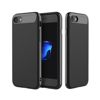 Funda ROCK Vision de carbono TPU Combo para iPhone 7