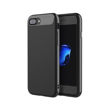 Funda ROCK Vision de Carbono TPU Combo para iPhone 7 Plus