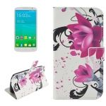 Funda de Piel Crazy Stuff Lotus con soporte para Alcatel POP S9