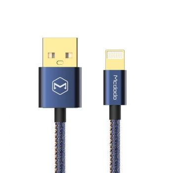 Cable de carga y sincronización USB a 8 Pin Lightning 1.2m 2.4A  para iPhone & iPad & iPod