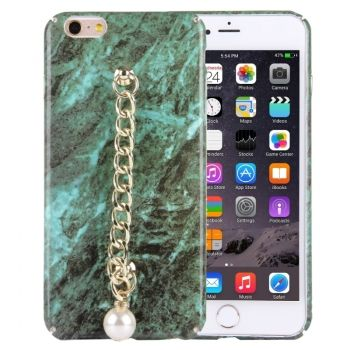 Funda protectora de plástico con diseño de mármol y cadena para iPhone 6 Plus / iPhone 6S Plus