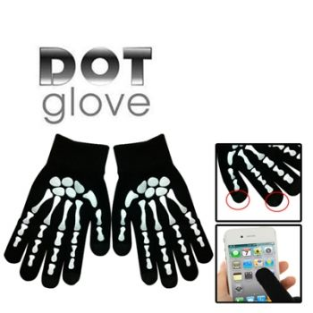 Guantes especiales touch screen esqueleto iPhone5 / iPhone4 / iPhone4S / iPad / iPod Touch / Samsung / BlackBerry / HTC / Sony / LG