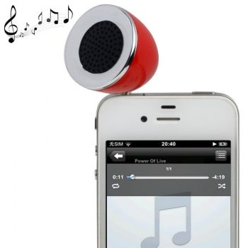 Altavoz 3.5mm para iPhone 4 / iPhone 4S / iPhone 3GS / iPhone 3G / iPod / iPad / MP3 / Otros móviles