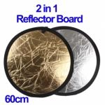 Reflectores de flash plegable 2 en 1 (oro / plata) (60cm)