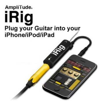 AmpliTude iRig guitarra eléctrica y bajo iPhone4 / iPad / iPod