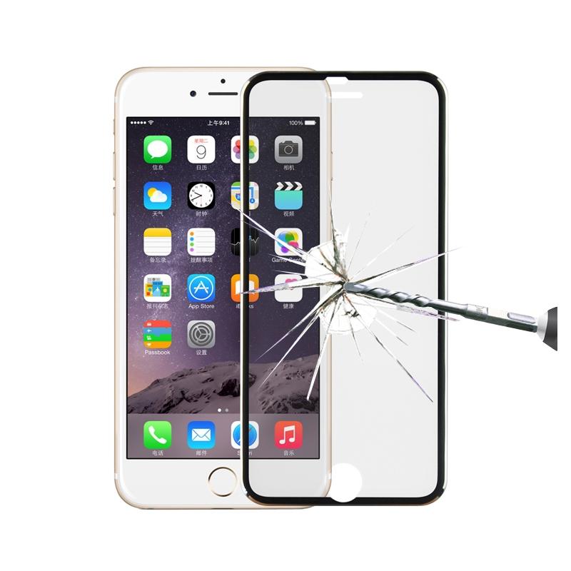ceda87b6578 Protector de pantalla templado con marco de titanio para iPhone 6 / iPhone  6S