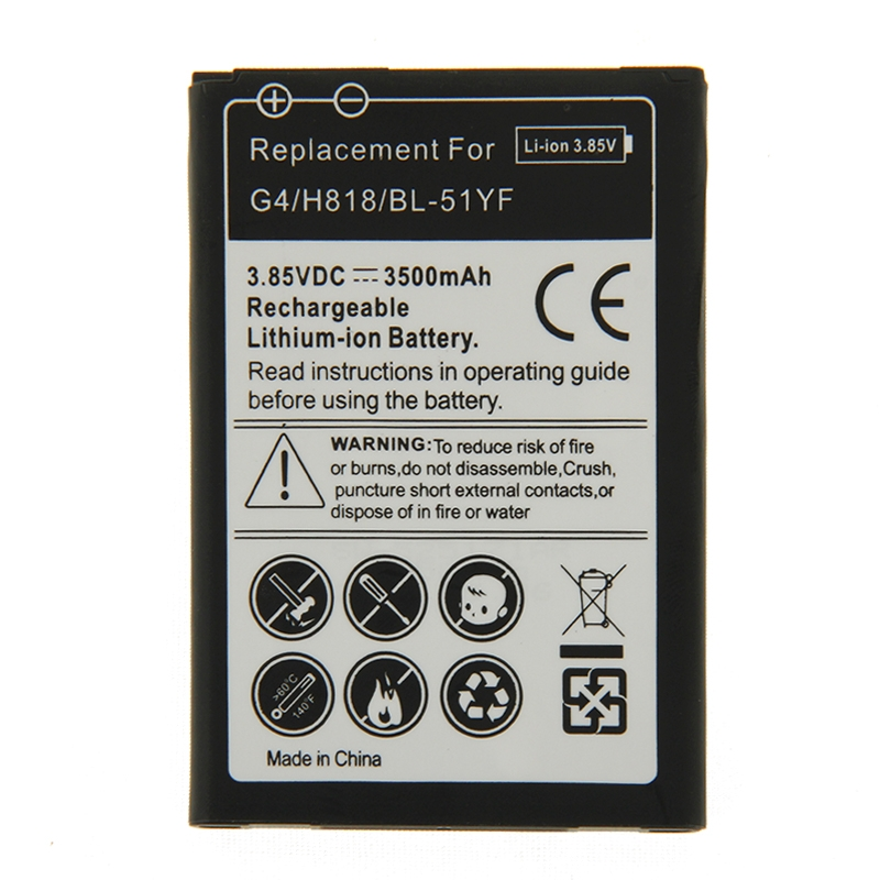 Batería de reemplazo 3500mAh recargable para LG G4